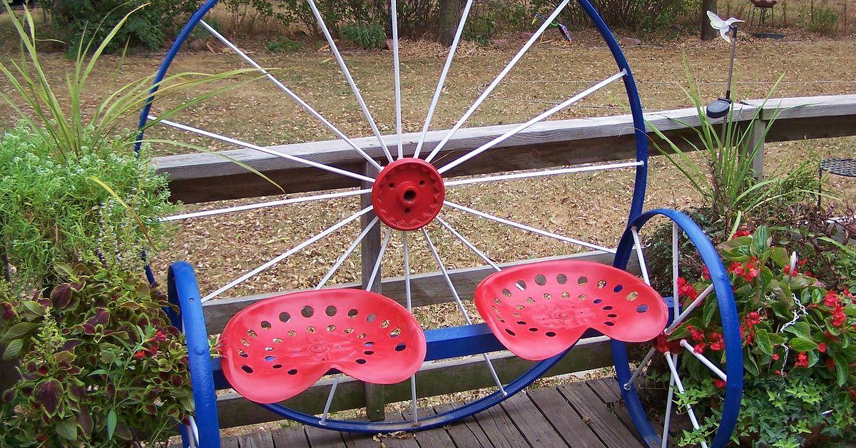 Steel Wagon Wheel Bench Hometalk