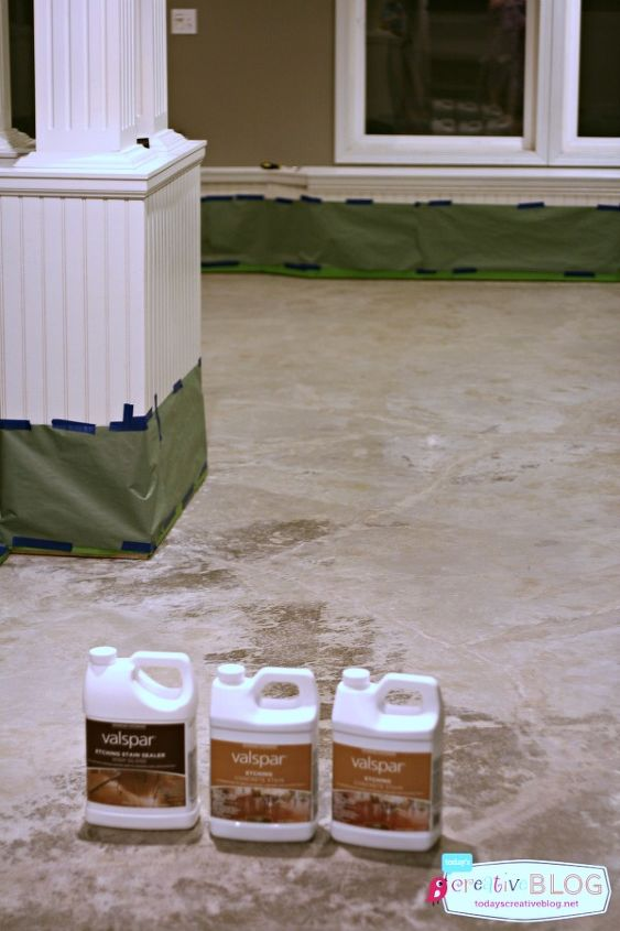 Staining and etching concrete floors hometalk for Best way to clean concrete floors before staining