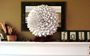 fall mantel with book page wreath, flowers, home decor, wreaths, Full post pictures found here