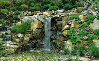 rotted retaining wall becomes and aquascape miracle project showcase how we went, decks, patio, ponds water features, pool designs, New 7 waterfall and landscapaed area replaces old ugly wood retaining wall Project by Deck and Patio Company Huntington Station New York Read more