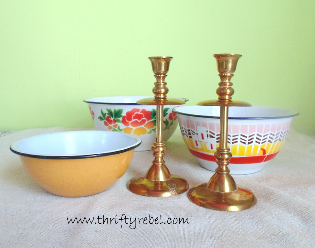 How To Make An Enamel Bowl Tiered Stand Hometalk