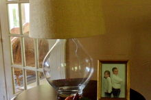 diy jar lamp with burlap shade, crafts, lighting, DIY Jar Lamp with Burlap Shade