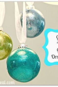 glitter filled glass ornaments tutorial, christmas decorations, crafts, seasonal holiday decor, Glitter Filled Glass Ornaments