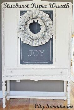 diy starburst recycled paper wreath, crafts, electrical, wreaths