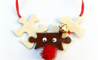puzzle piece christmas decor, crafts, repurposing upcycling