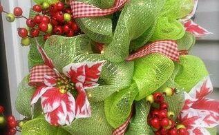 decco mesh christmas tree, crafts, seasonal holiday decor, wreaths