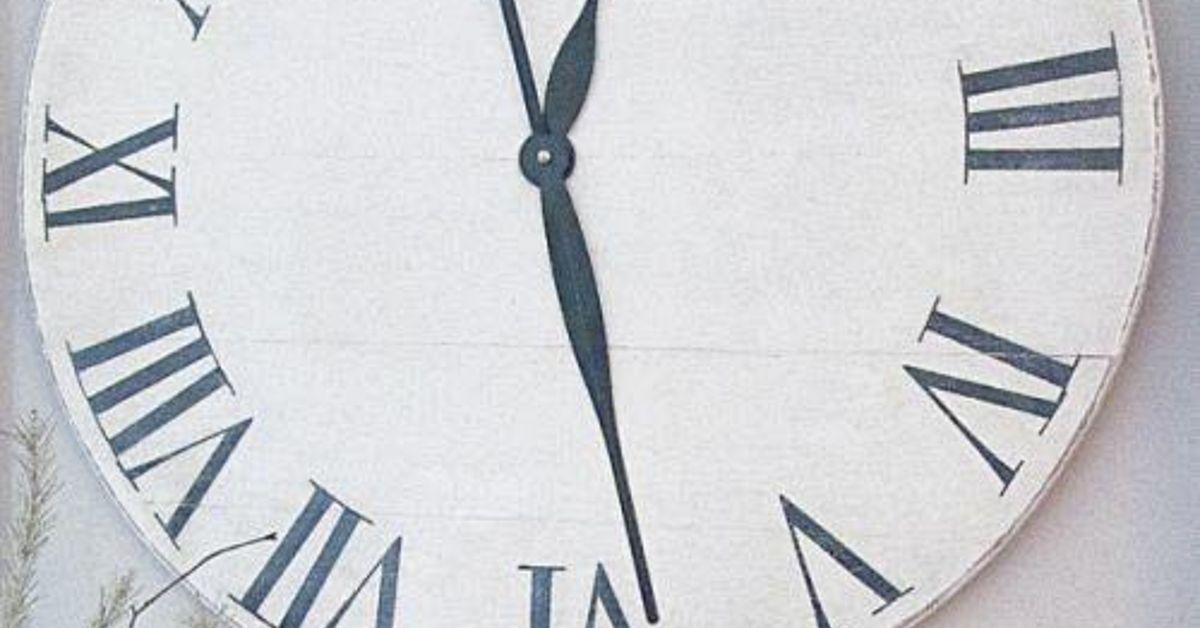 Wall Clock Ballard Design : Knock off ballard designs wall clock for under hometalk