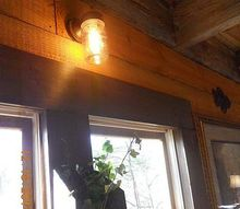 this was a 5 outdoor light i substituted the glass cover with a mason jar, home decor, lighting, mason jars, The light bulb is the Edison bulb A replica of the original light bulb