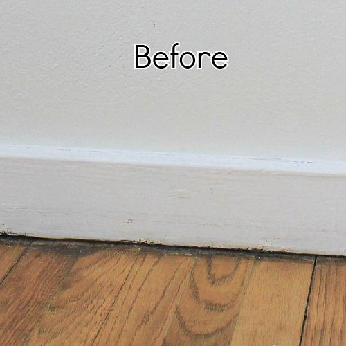 Add height to your short baseboards cheaply hometalk Baseboard height