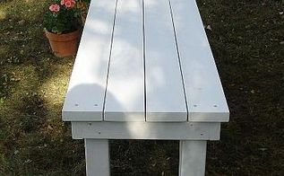diy outdoor bench, outdoor furniture, outdoor living, painted furniture