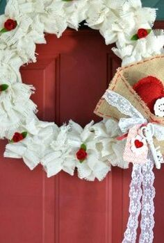 easy to make ruffled burlap valentine s wreath, crafts, seasonal holiday decor, valentines day ideas, wreaths, ruffled burlap Valentine s wreath