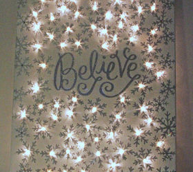 How To Make A Lighted Christmas Canvas, Christmas Decorations, Crafts,  Fireplaces Mantels,
