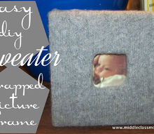 easy diy upcycled sweater wrapped picture frame, home decor, repurposing upcycling