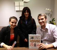 young house love book signing, With Sherry and John and my new copy of their book