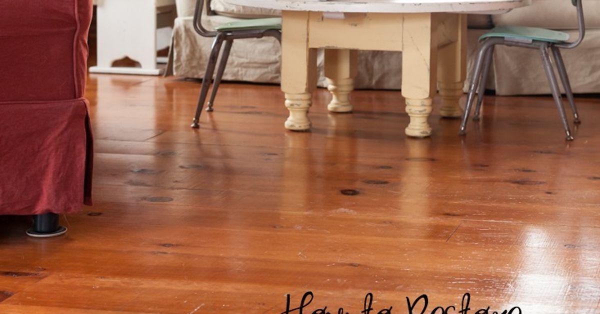 restore shine on wood floors | hometalk