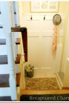 organizing shoe clutter in mudroom foyer or entrance, foyer, organizing, painted furniture, repurposing upcycling, storage ideas