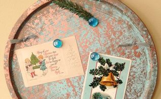 copper patina magnet board from a cookie sheet, christmas decorations, crafts, how to, repurposing upcycling, seasonal holiday decor