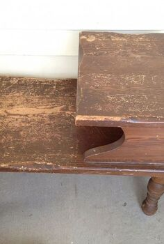 think twice before you toss out that old end table, painted furniture, repurposing upcycling
