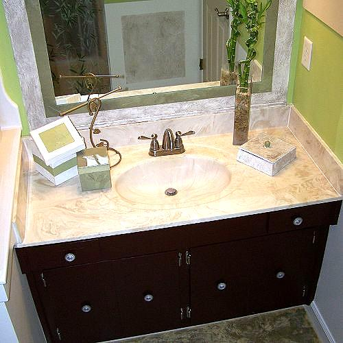 Old Bathroom Mirror Makeover Decorative Paint Frame Without Removal Painting After