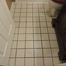 ployblend grout renew an affordable easy way to update your grout color, painting, tile flooring, tiling, Before