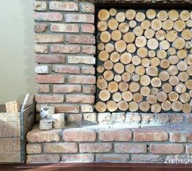 Birch Log Fireplace Screen | Hometalk