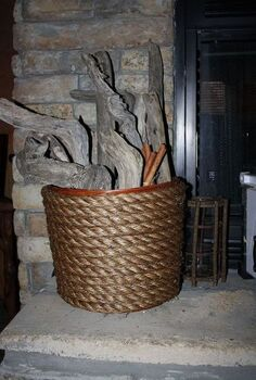 rope basket, crafts, Rope Basket
