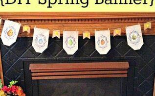 diy printable spring banner, crafts, seasonal holiday decor, Printable Spring Banner