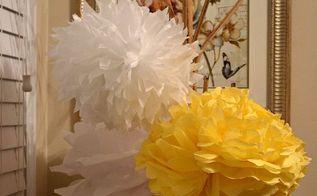 diy hanging tissue pom pom balls tutorial, crafts, DIY Tissue Pom Pom Balls