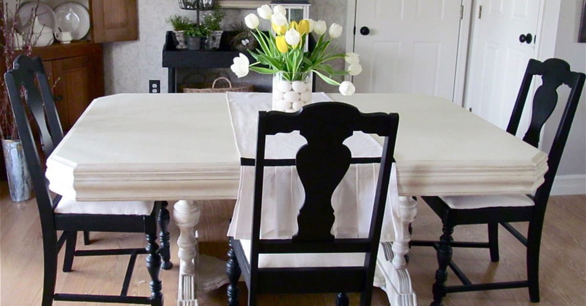 My 40 yard sale dining room table chairs hometalk for Furniture yard sale