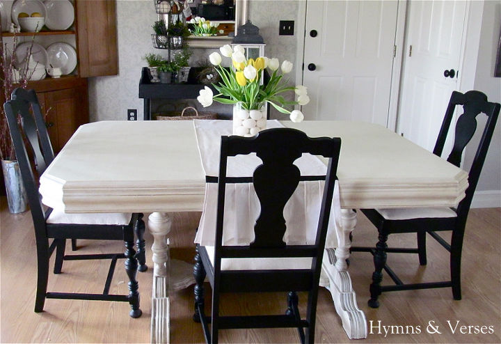 My 40 yard sale dining room table chairs hometalk for Dining room table 40 x 120