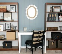 farmhouse chic office makeover, chalk paint, chalkboard paint, crafts, home office, painted furniture