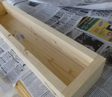 diy wood and tile planter box, crafts, diy, Simple box