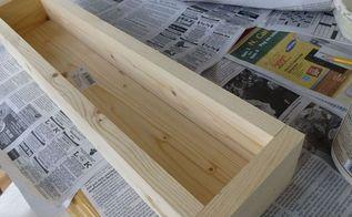 diy wood and tile planter box, crafts, diy, Simple box
