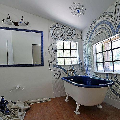 Bathroom Mosaic Bathroom Ideas Tiling I Call It Wall Jewelry