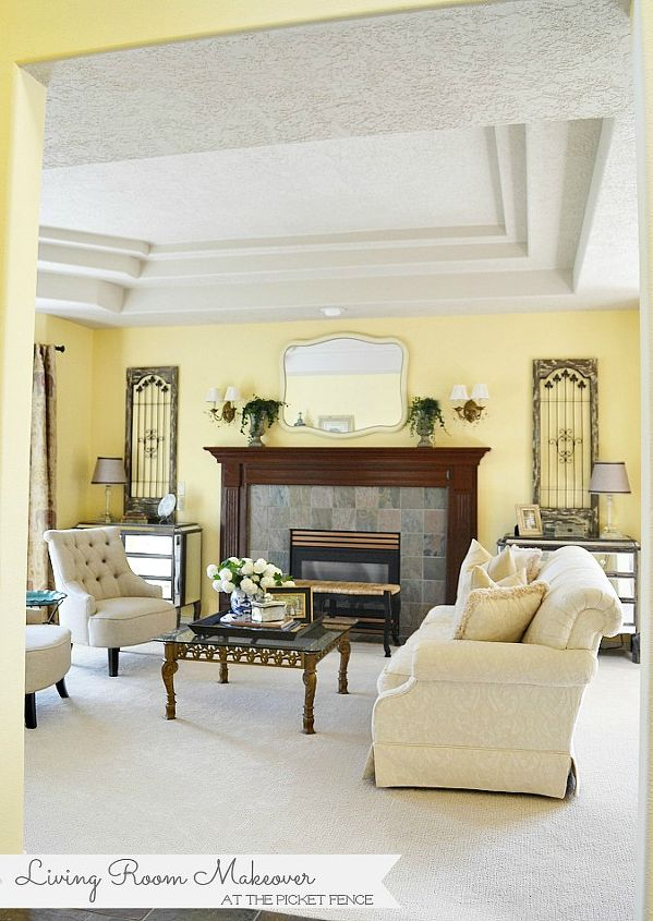 My traditional meets french country living room makeover for French country family room