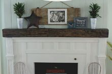 fireplace facelift beautiful mantel built with scraps, diy, fireplaces mantels, how to, living room ideas, repurposing upcycling