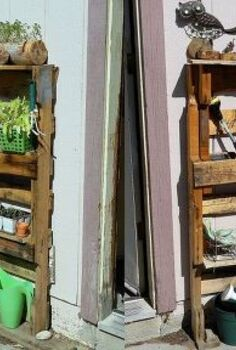 upcycled pallet garden shelves, diy, gardening, pallet projects, repurposing upcycling, Upcycled Pallet Garden Shelves