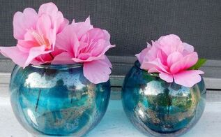 diy faux mercury glass in any color, crafts