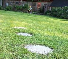 a quicker and easier way to stepping stones, concrete masonry, outdoor living, Finished stones take about 3 hours to dry overnight before walking on them