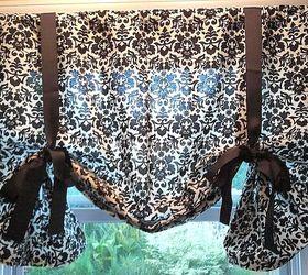 Diy No Sew Kitchen Curtains Hometalk