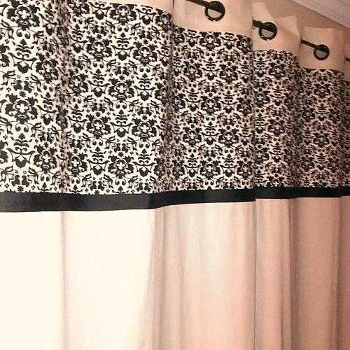 DIY No Sew Kitchen Curtains