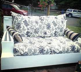 Upcycle Indoor Love Seat To Outdoor Couch, Outdoor Furniture, Painted  Furniture, Repurposing Upcycling