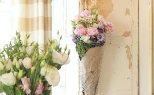 diy chicken wire flower basket, crafts, home decor