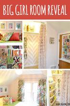big girl room reveal, bedroom ideas, home decor, A fun kid room revealed