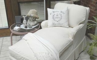 slipcover lesson from a master, home decor, reupholster, Neutral slipcover