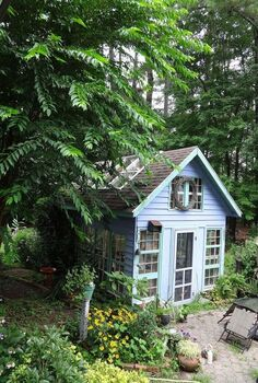 greenhouse from old windows, gardening, outdoor living, repurposing upcycling, windows, Greenhouse from old windows