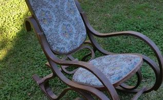 rocking chair updo, painted furniture, repurposing upcycling, reupholster