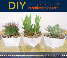 diy geometric dip bowl succulent planters, crafts, flowers, gardening, repurposing upcycling, succulents, Make some today