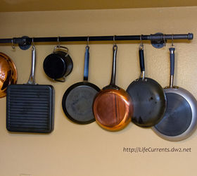 diy pot rack with pipes from home depot cleaning tips diy kitchen design