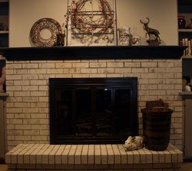 Painting a Brick Fireplace With Chalk Paint® | Hometalk